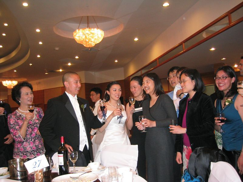 2005 04 23 Saturday - Table toast 1 @ Mike & Amy Lee's wedding
