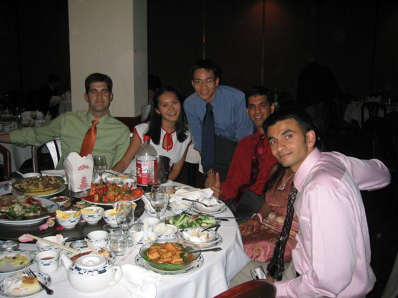 Reception - Joycelin's bf, Joycelin, Ben Yu, jazz guy, Ankit Hathi