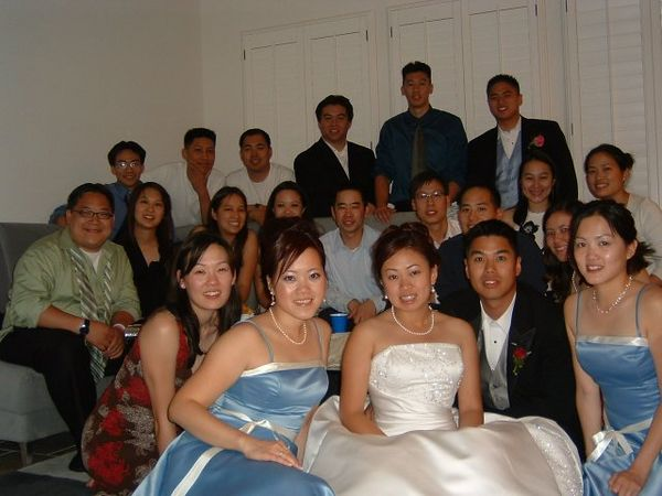 Hanging out at Harry Huang's - EFC-Harvest Berkeley group pic