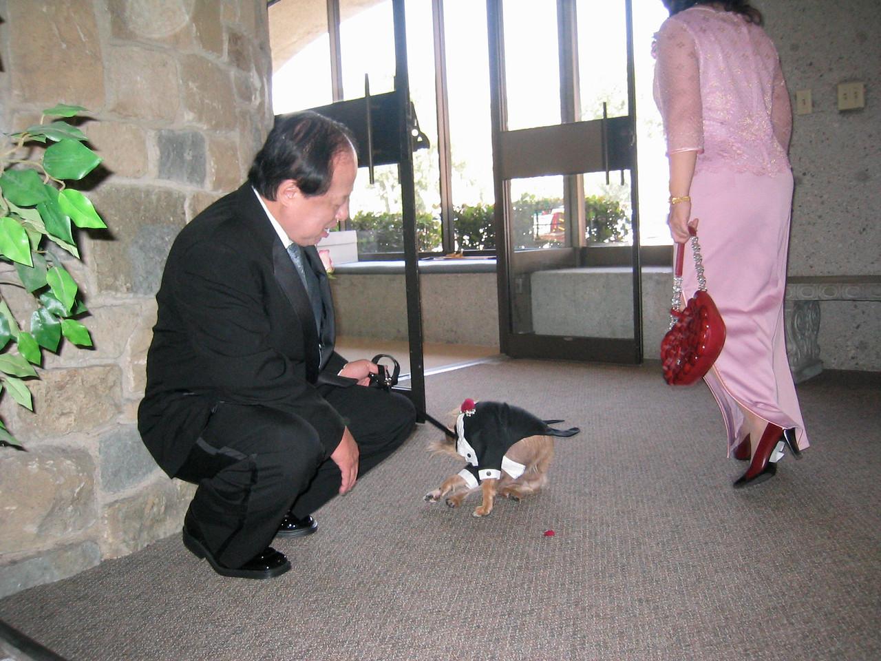Ceremony - Benji licks his butt and Mr  & Mrs  Hu