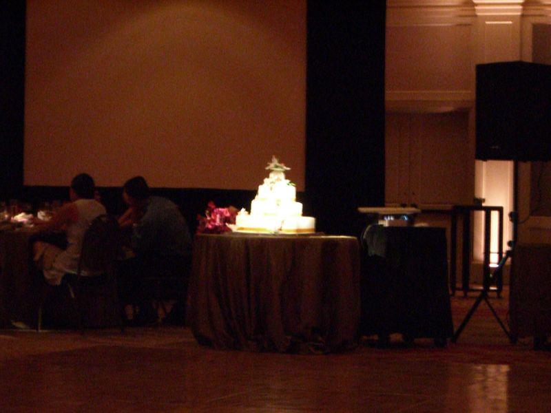 Reception - Glowing wedding cake