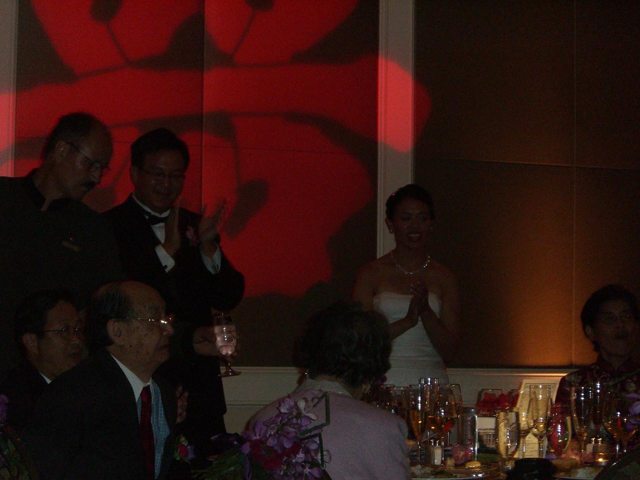 Reception - Bride & Groom - with flash