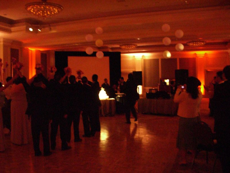 Reception - Wedding party welcomes the couple