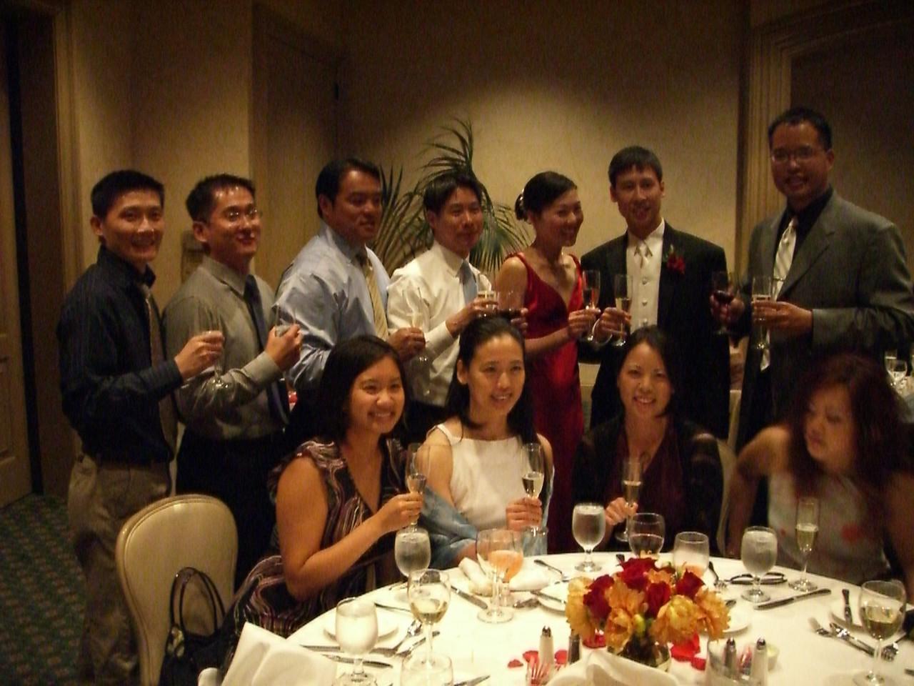 Table pic with bride & groom - EFC-Harvest Berkeley older classes 1