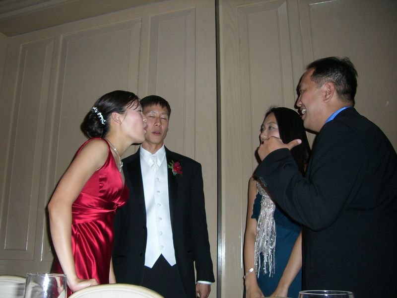 Bride & Groom and Walter Wu & gf