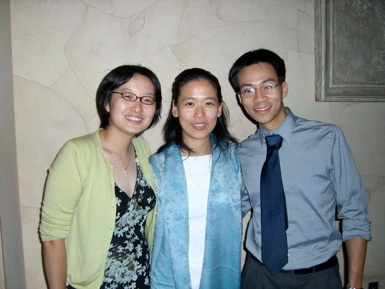 Betsy Wang, Jenny (Wang) Chiang, & Ben Yu