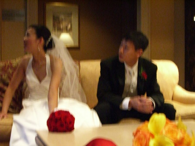Bride & Groom - blurry