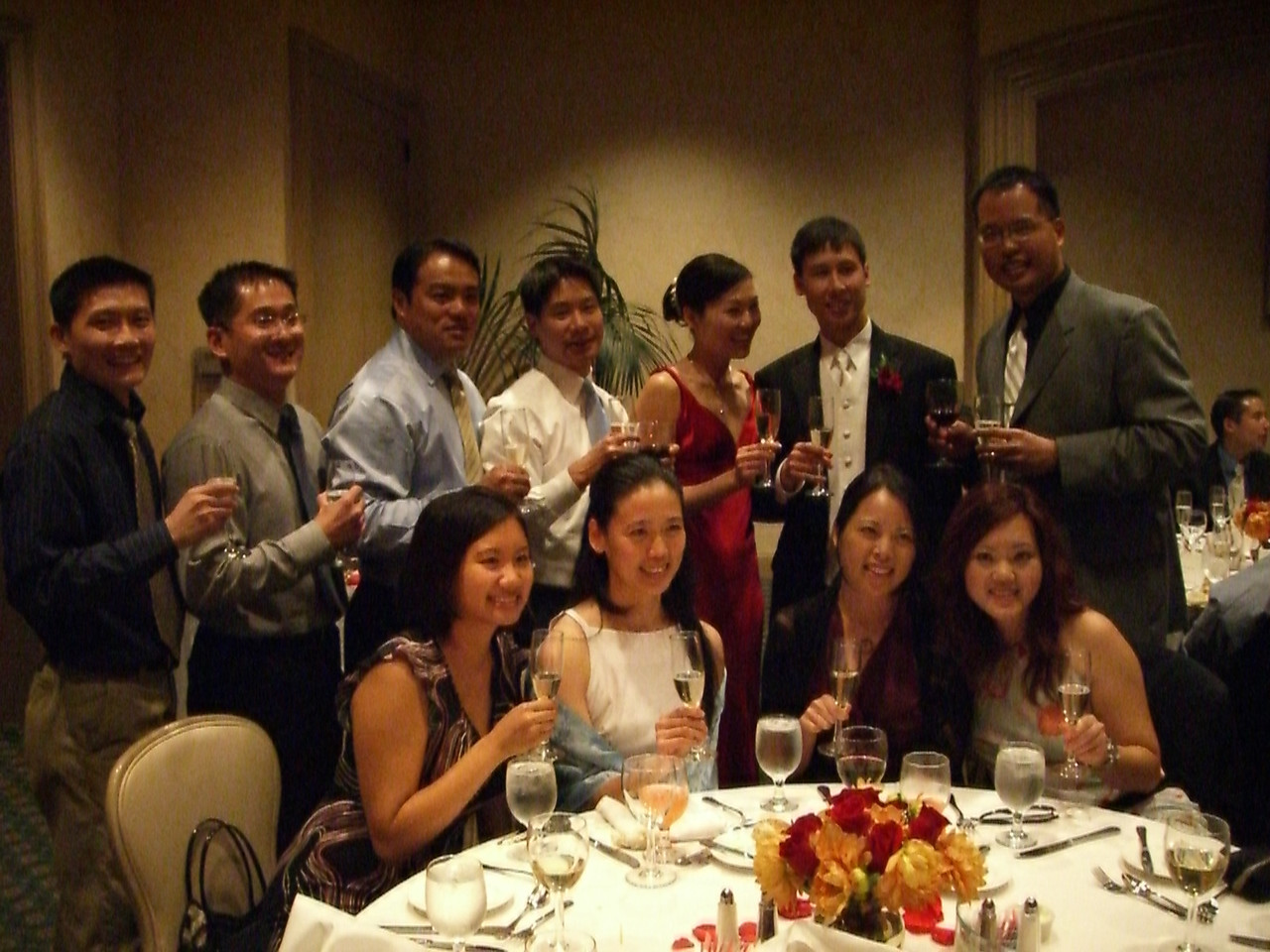 Table pic with bride & groom - EFC-Harvest Berkeley older classes 2