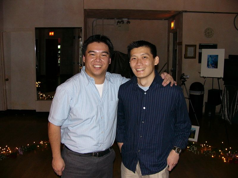 Lawrence Joe & Mike Chen prom photo before Brittany arrives
