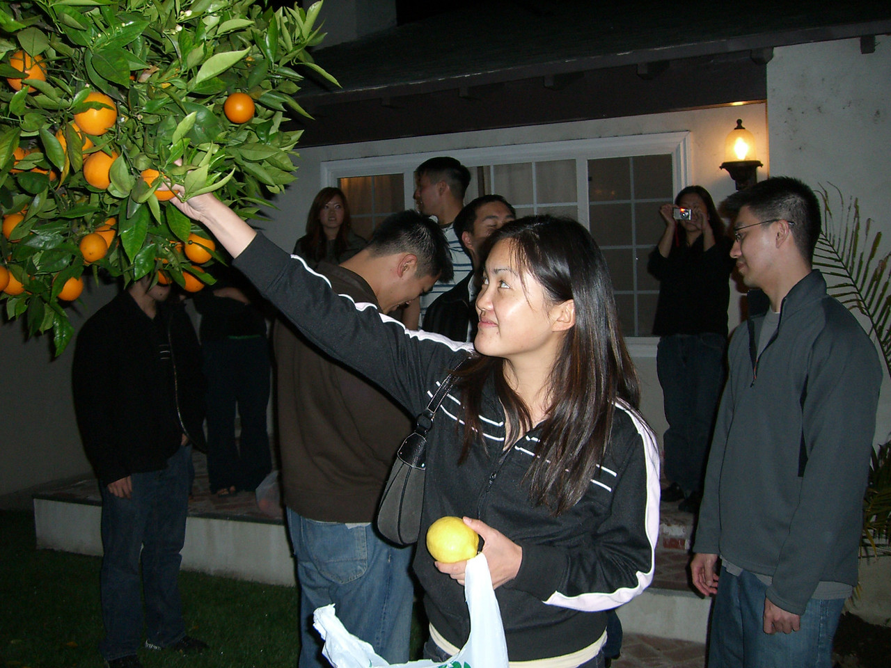 2006 05 05 Fri - Old EFC'ers dinner in LA - Bernice Chen @ Chris & Josephine's orange tree