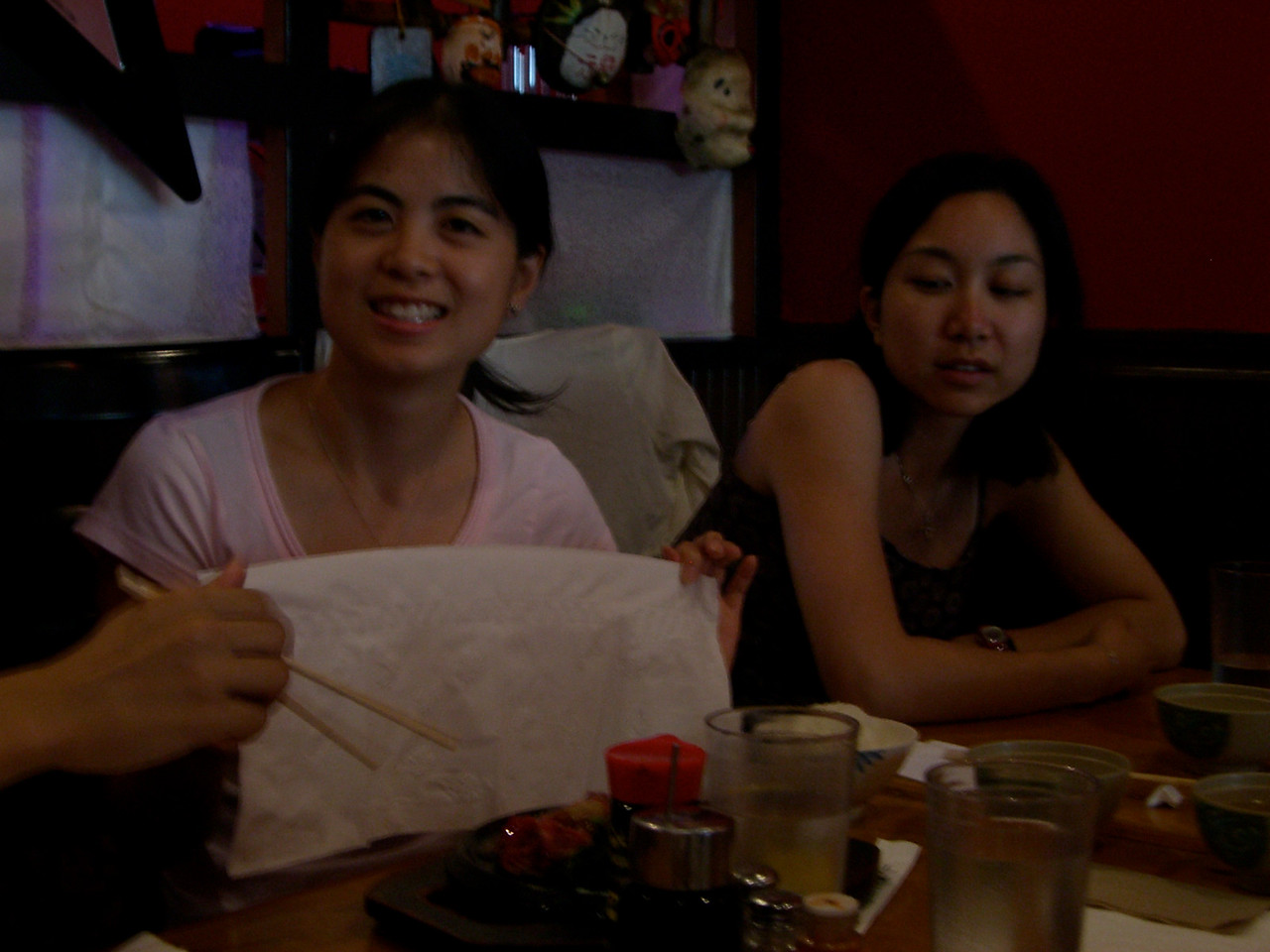 2006 06 17 Sat - Audrey Wu demonstrating the Taiwan steak practice as Renee Lee looks on