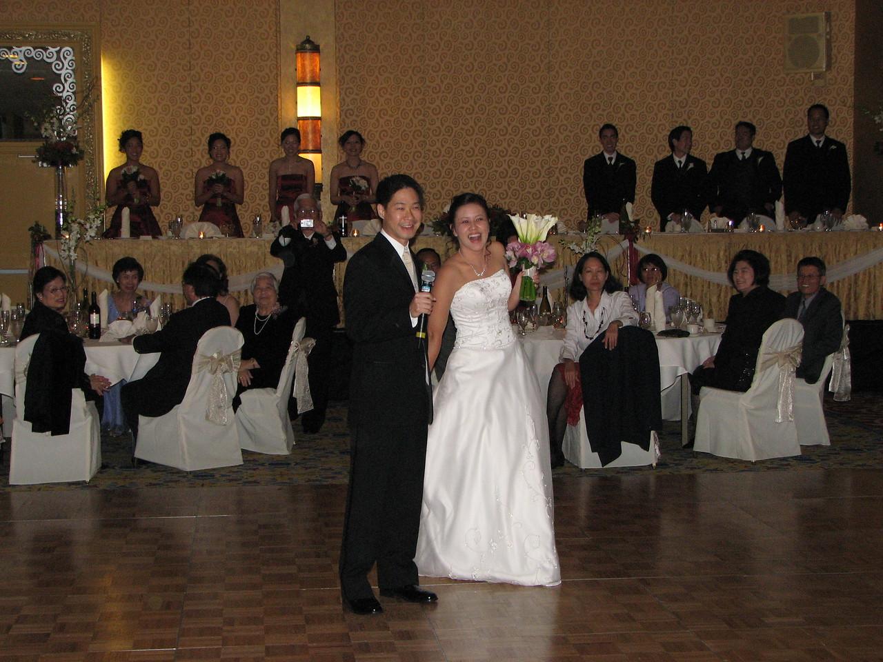 2006 10 08 Sun - Reception - Enter Mr  & Mrs  Joe & Joanna Sun 2