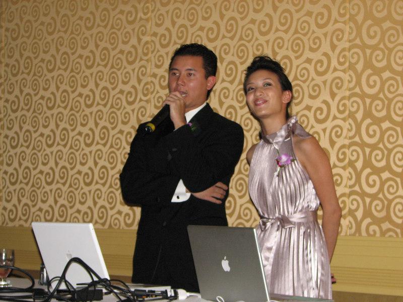 2006 10 08 Sun - Reception - Lil' Bro & MC Joseph Chi & gf 2