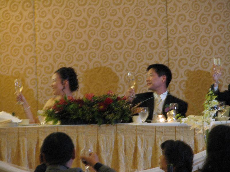 2006 10 08 Sun - Reception - Joanna & Joe Sun @ head table