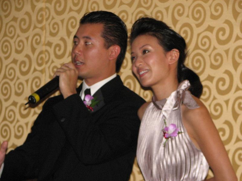 2006 10 08 Sun - Reception - Lil' Bro & MC Joseph Chi & gf 1
