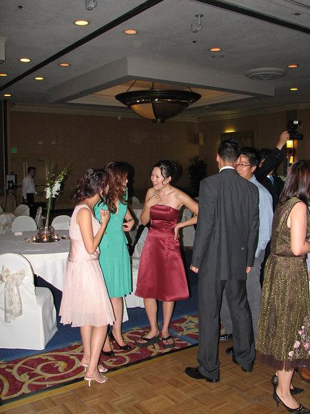 2006 10 08 Sun - Reception - Julienne, Maggie Yang, Leslie & Dave Lee, & Eric Liang