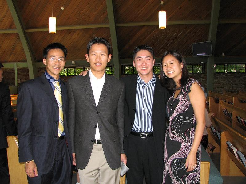 2006 10 08 Sun - Ceremony - Hair dying reunion - Yu, Joe Lin, Dean Chang, & Brittany Hsiang Chen