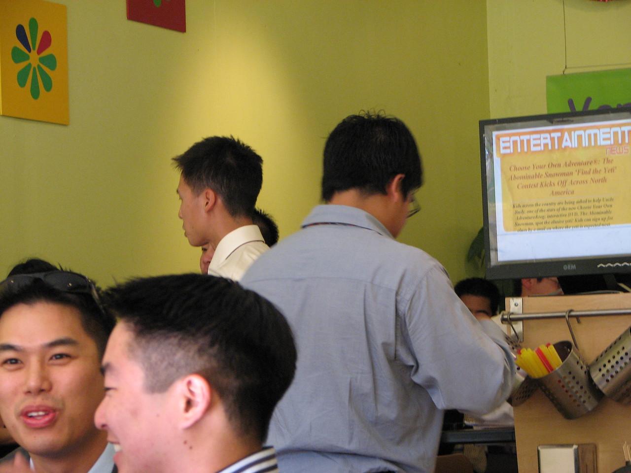 2006 10 08 Sun - In between boba @ Café Verde again - Johnny Chen, Dean Chang, Dave Lee, & Eric Liang
