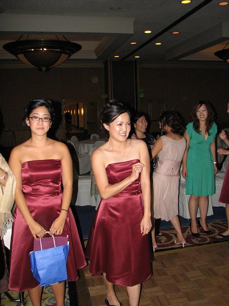 2006 10 08 Sun - Reception - Joy, Bernice Chen, Angela Chen, Julienne, & Maggie Yang