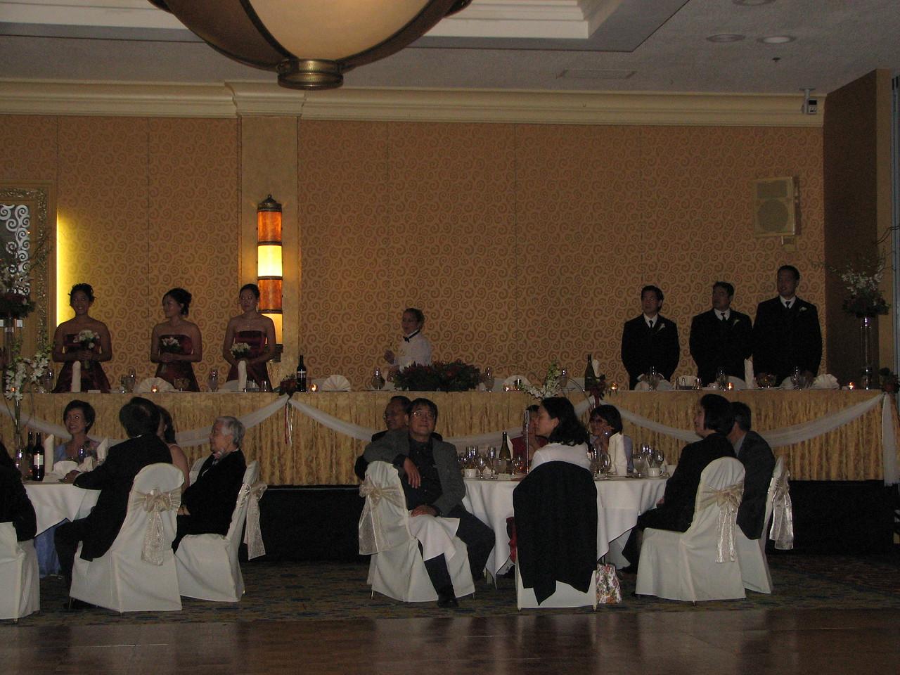 2006 10 08 Sun - Reception - Wedding party @ head table