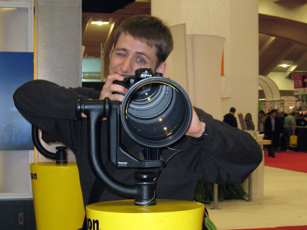 2007 01 12 Fri - From Amy Wong's camera - Cory Benavides & the Nikon Big Mama lens