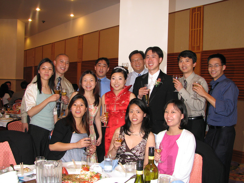 2007 05 19 Sat - Reception - EFC-Harvest elders table toast with bride & groom 2