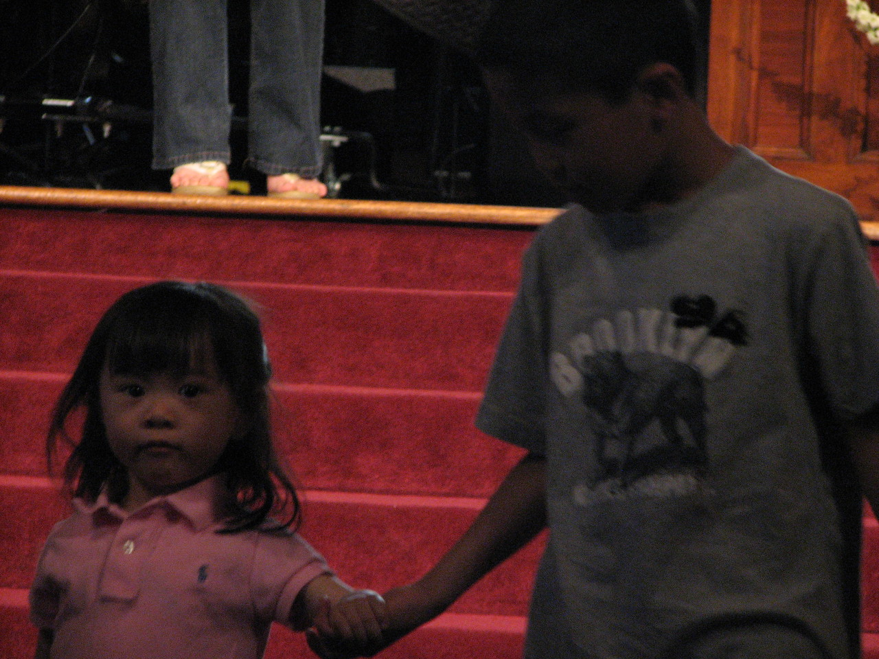 2007 05 18 Fri - Rehearsal - Flower girl & ring bearer 1