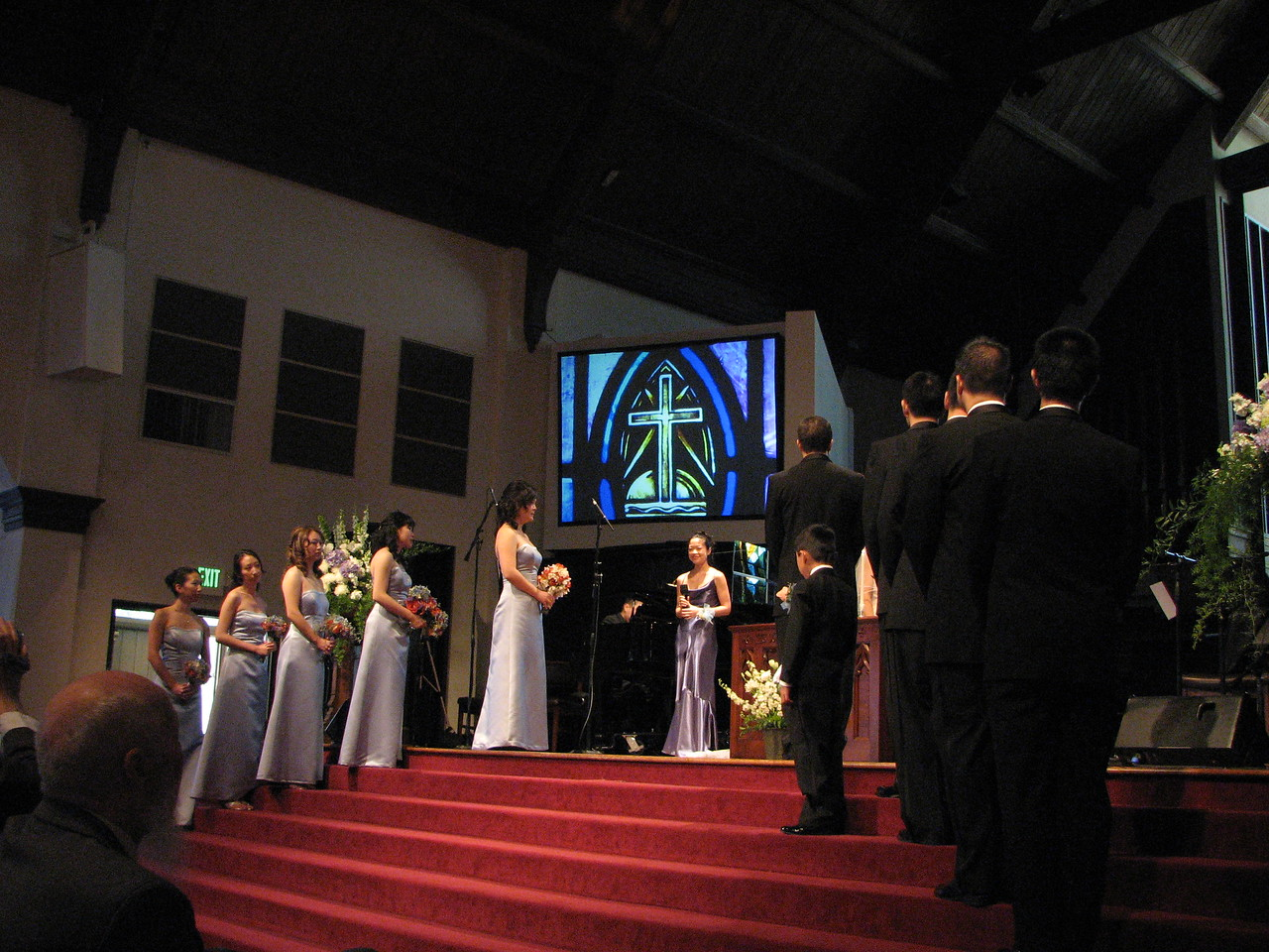 2007 05 19 Sat - Sister of the groom Amy Chang & brother of the bride Pedro Cheung sing 'Remember Me'