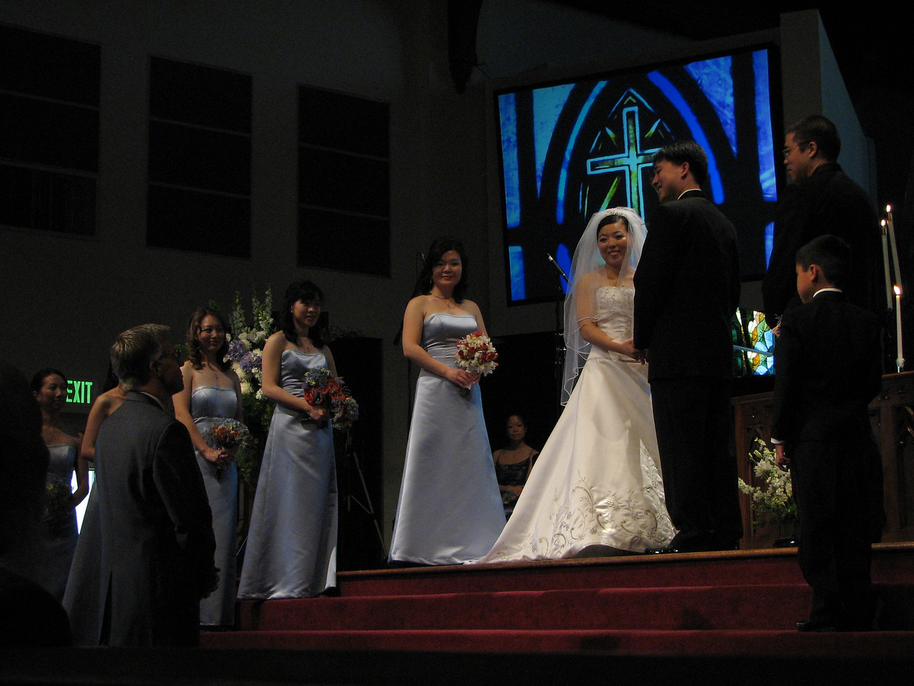 2007 05 19 Sat - Pastor Frank acknowledging Stephen & Cynthia Chang as hubby & wifey