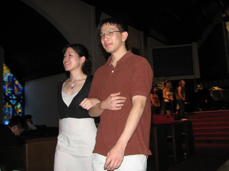 2007 05 18 Fri - Rehearsal - Bridesmaid Amy Wong & groomsman Joe Chen