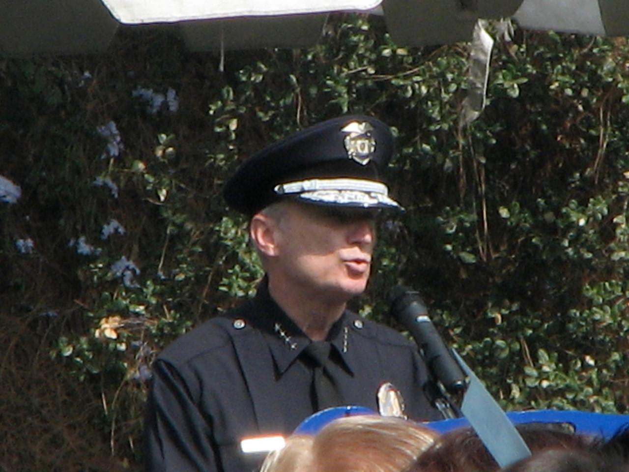 2007 05 25 Fri - LAPD Police Chief speech close up