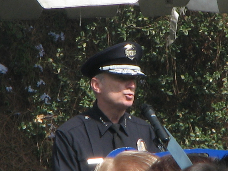 2007 05 25 Fri - LAPD Police Chief speech close up