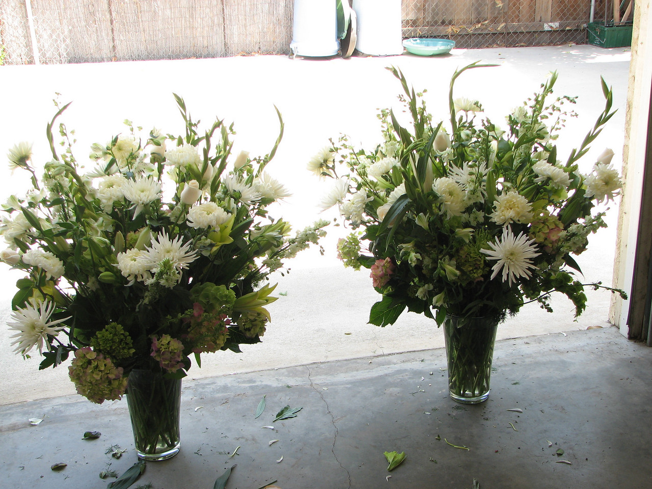 2007 06 09 Sat - Head bouquets - darker