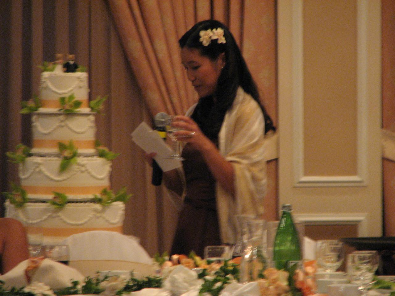 2007 06 09 Sat - Bridesmatron toast - Hege Fan