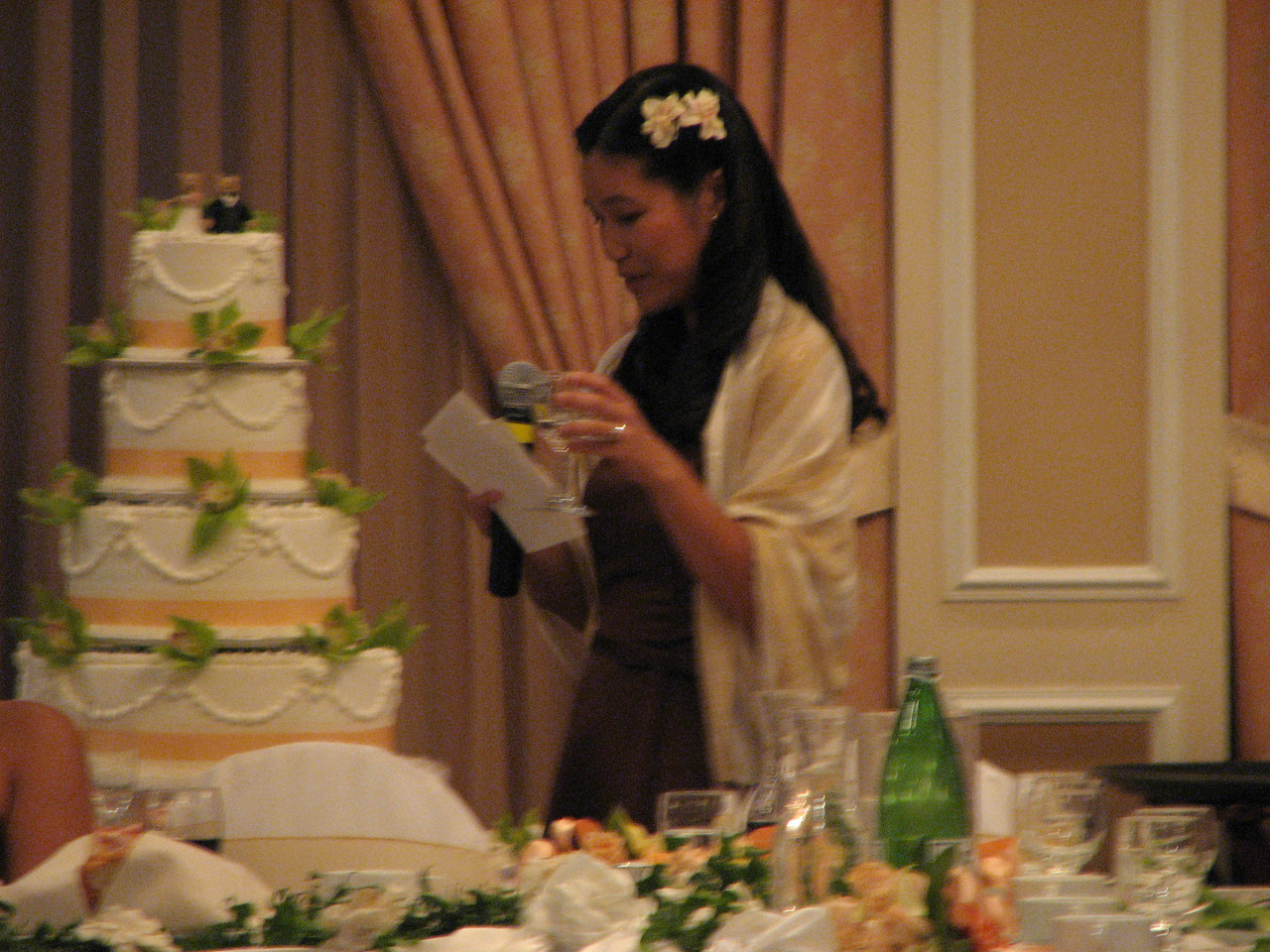 2007 06 09 Sat - Bridesmatron toast - Hege Fan