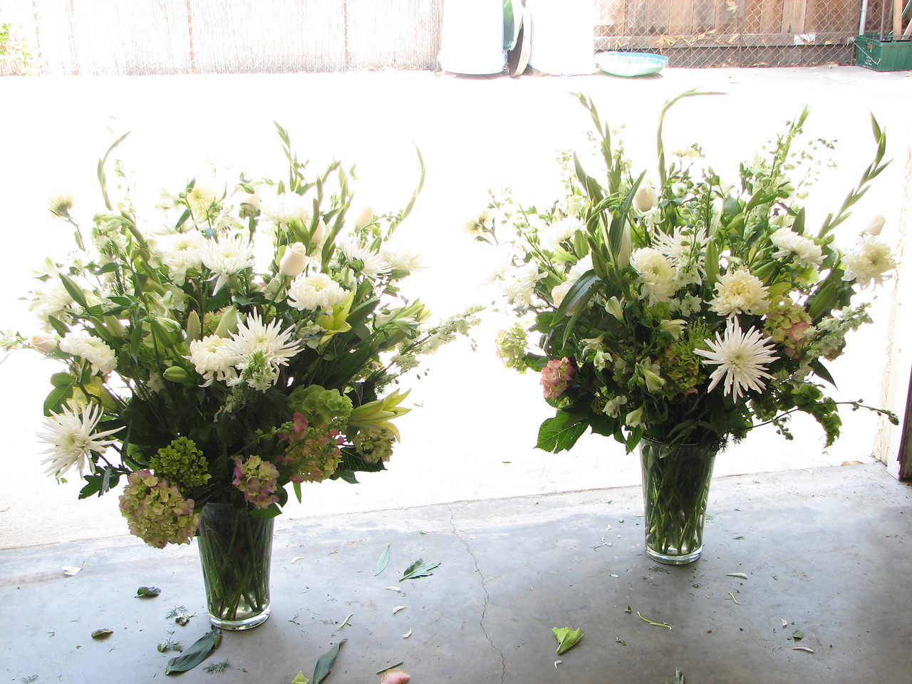 2007 06 09 Sat - Head bouquets - brighter