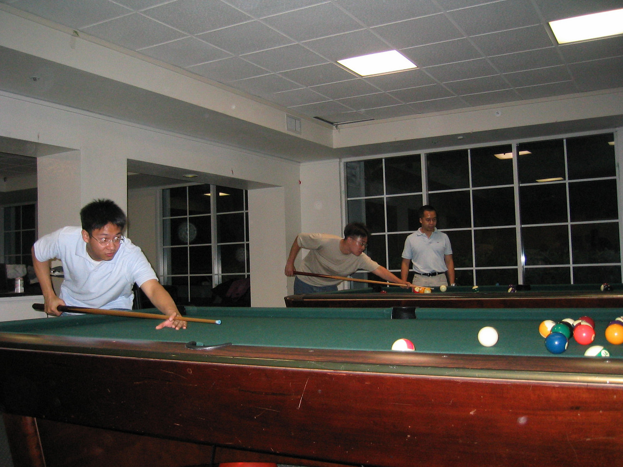 Syncronized pool shooting - Philip Pan & Steve Chang