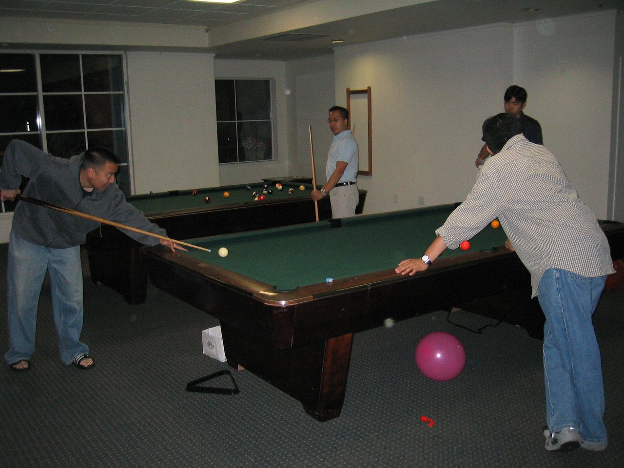 Pool sharks Alan Sue, Johnny Dong, Wing Ho, & Andrew Chang