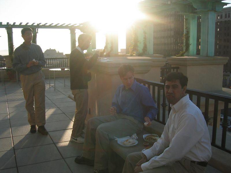 The men of outdoors, backlit - Ben, Phil, Sean, & Sandeep