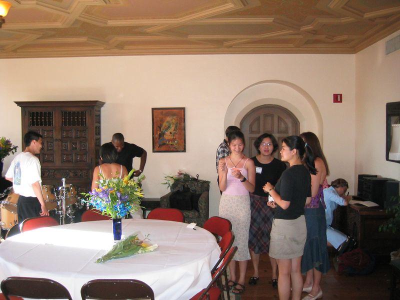 Setting up & mingling