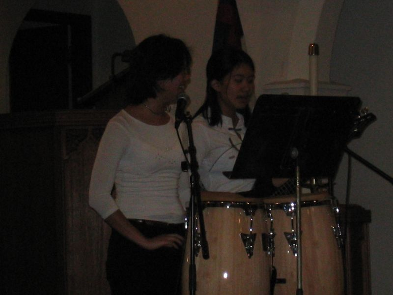 Dark - Cheryl and Brittany @ the congas and bass