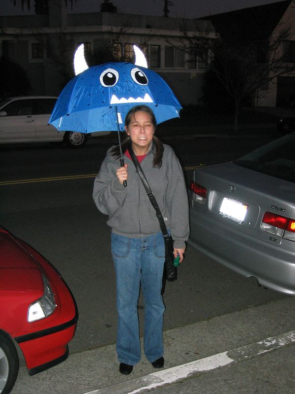 Jenny Wei and her IKEA umbrella