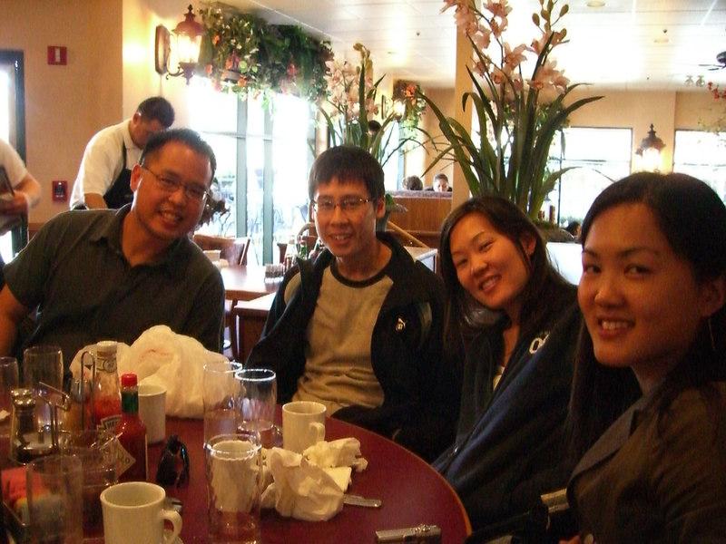 2006 03 25 Sat - Bernice Chen's Spring Break visit to NorCal - Jeff Lin, Dave & Leslie Lee, & Bernice Chen