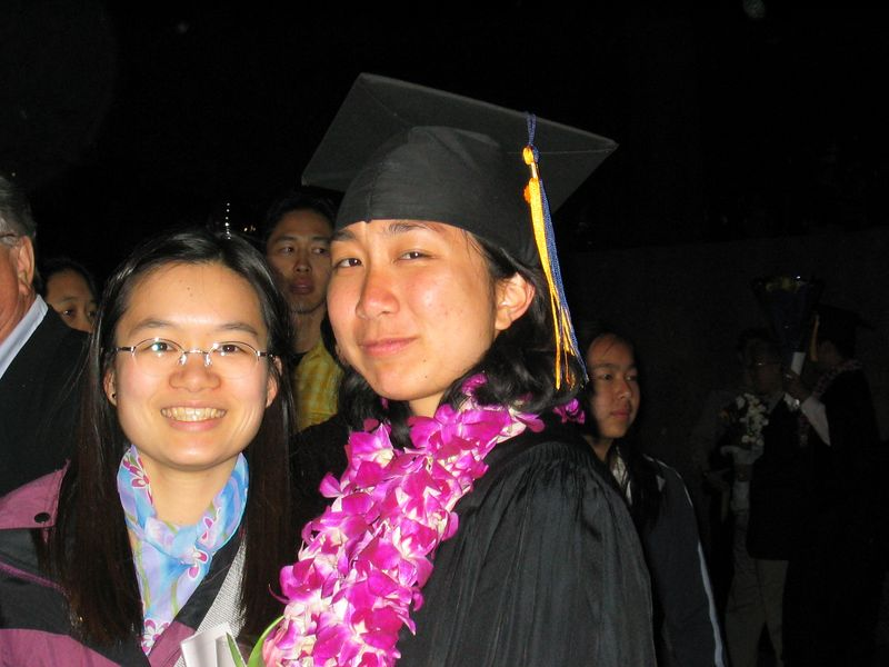 MCB graduation 2003 - Christine Louie & Rene Lee, Friday 5 23 2003
