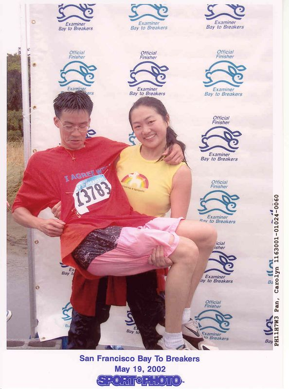 2002 Bay To Breakers Finish Line Photo with Caroline