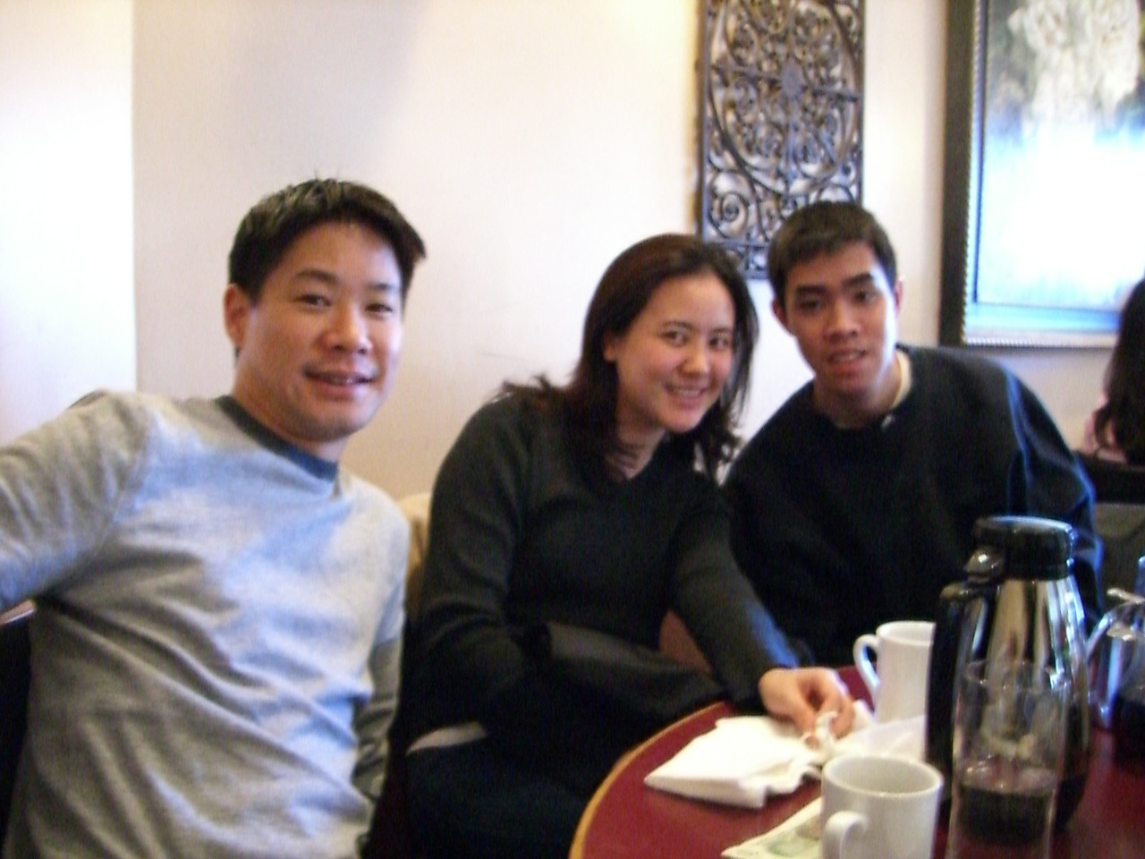 2006 03 25 Sat - Bernice Chen's Spring Break visit to NorCal - Joe Sun, Joanna Chi, & Joe's bro