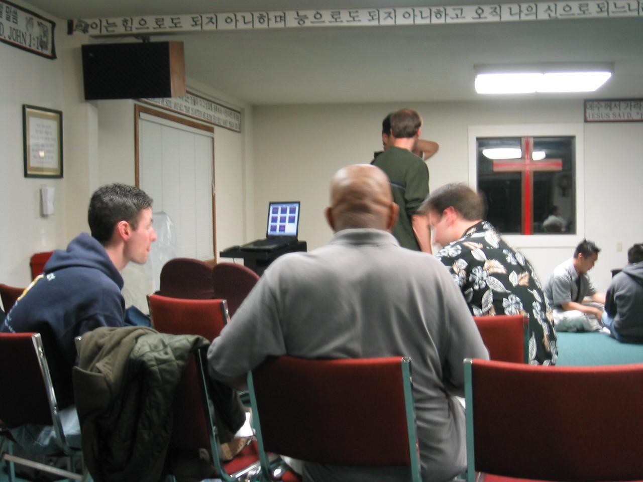 Friday Night Small Groups, Luke, Marc, & Sean
