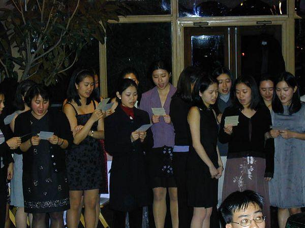 Girls serenade for guys