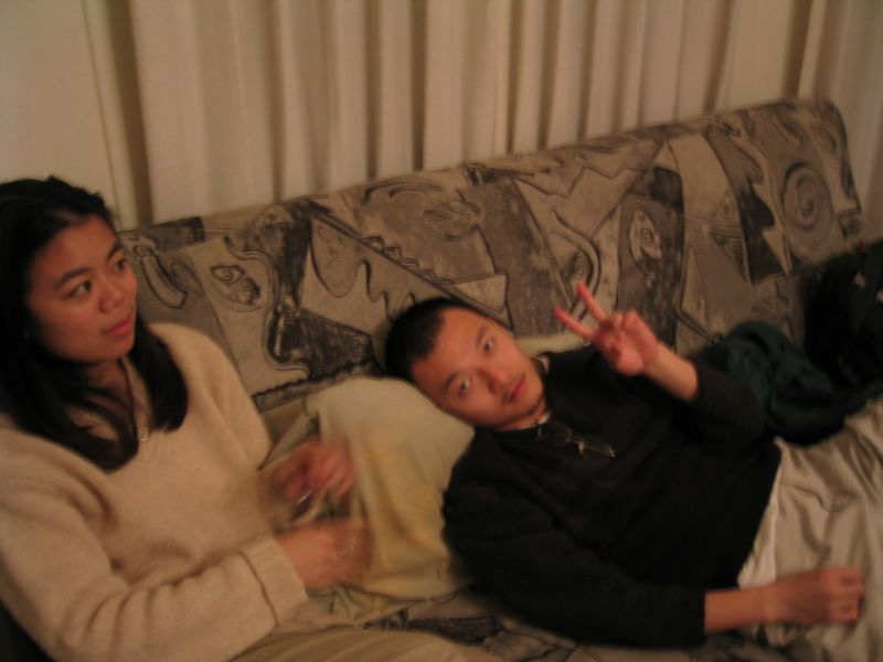 2002 12 14 Saturday - Annie Chang & FoB George Hsieh