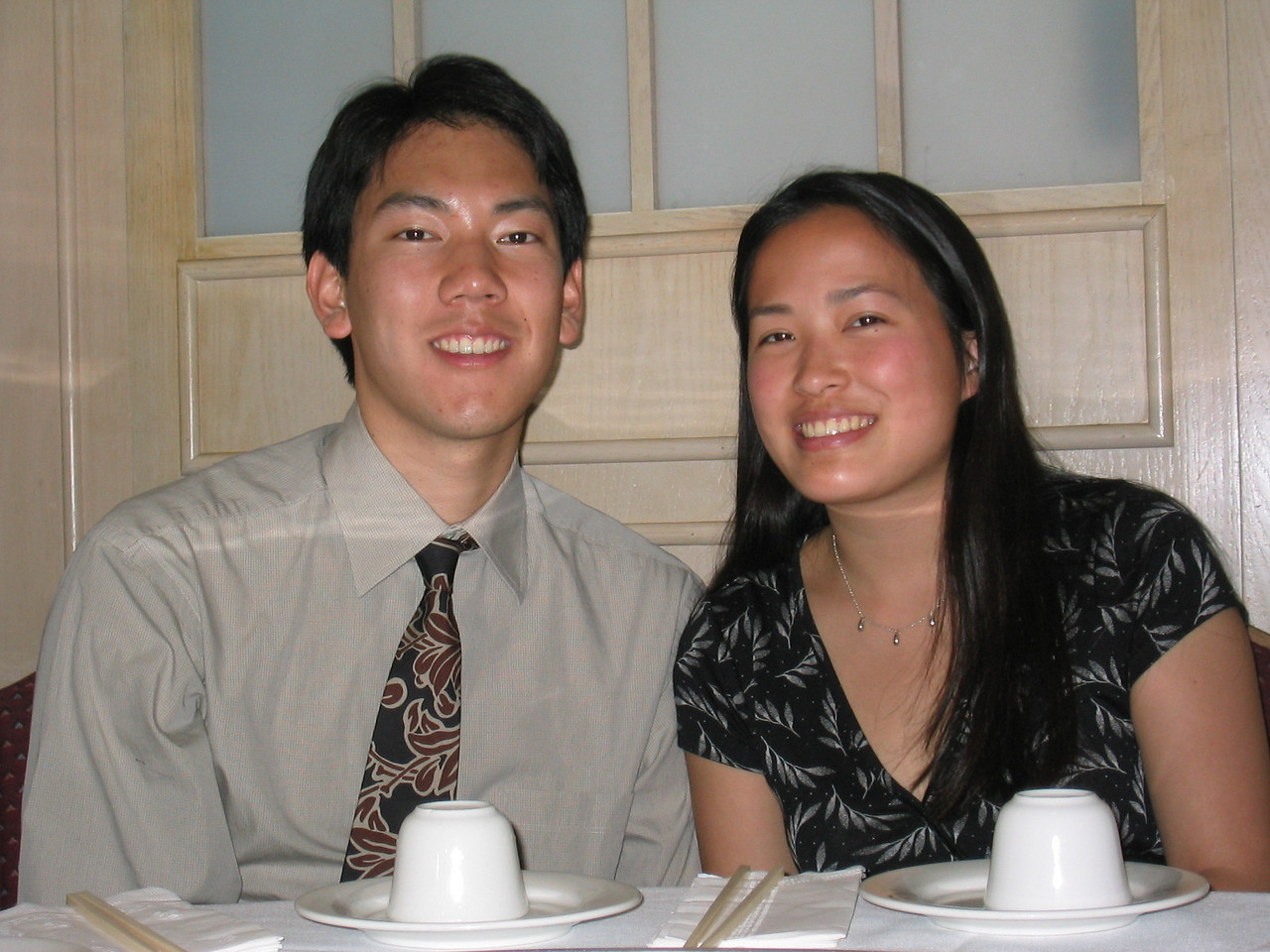 Erick and Jessica both with long hair